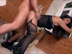 Exotic German body stockings oily ass hard eager to fuck builder