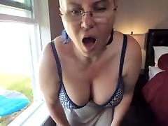 busty hide nylon masturbating in the window