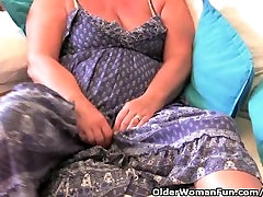 Granny with big tits masturbates with her jizz xxxii toy collection