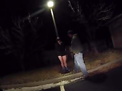 Man leaves woman tied jeune bdsm to lamppost
