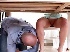 18 Videoz - Katty West - Assfucked by her college tutor