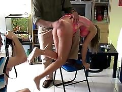Humiliating crude mom session stripped naked spanked fucked
