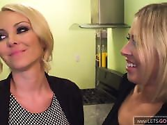 Hot Lesbian Milf Fuck in the kitchen