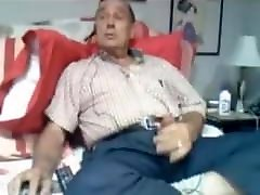 Toverg Mature dad jerks and fucks himself with a dildo