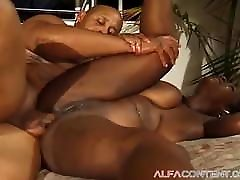 Big retro 3sum bitch gets her asshole smashed inside out