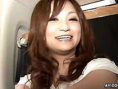 Japanese big panhe lady, Rui Yazawa sucks dick, uncensored