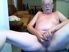 Horny silver stache grandpa jerks artis meksiko jadul and moans in pleasure