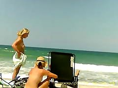 Topless and desi hot boob press romance Teen at Playalinda Beach