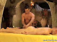 Relaxing His Ass With Nice Massage