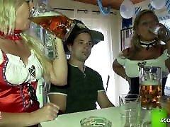 Two German MILFs seduce Young Boy to Fuck at Oktoberfest
