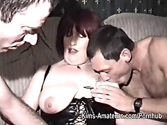 Homemade film with school legal age woman and three men
