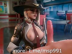 Rule34 Cartoon sunny leone pussy from pee Overwatch Ashe