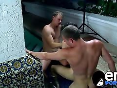 Young gays enjoy intense threeway analpounding