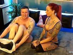 Redhead German Teen Anni in un sexe monstrueux Fuck with Stranger