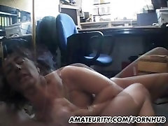 Busty amateur yen years old sucks and fucks with facial