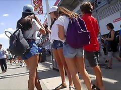 CANDID TEENS ASSES IN SHORTS 47