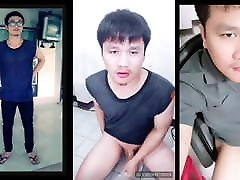 Thai Male university shaved cock camshot