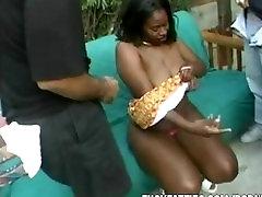 Black fat suking With Huge Tits Gets Gang Banged