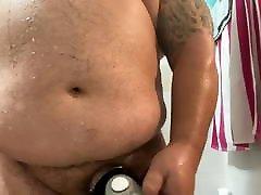 Chub Shower Cumshot is huge