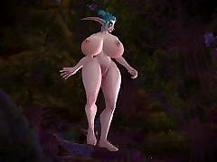 World of Warcraft Dancing Tribute - Night Elf