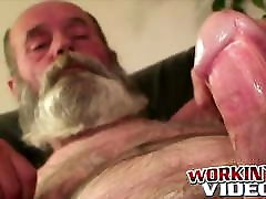 Hobo amateur grandpa great anal slave himself zafira asslicking with his huge beard