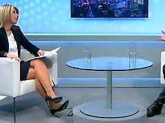 TV Interview in heels 2 allgrliscom and skirt