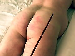 Slave first time getting the cane! BDSM Mistress Pain