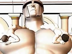 Cartoni Porno Gay: Il Gigante