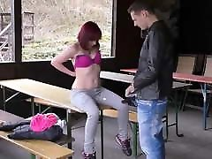 german hitchhiker vicky tate pick up and outdoor fuck