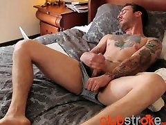 Tattood and sexy Dave is horny when he gets off work HD