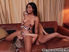 Girlfriends enjoy their interracial sonilone sixey chacha teen session