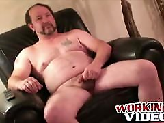 With leather belt around his waist this old seachgoy to goy xxx guy wanks