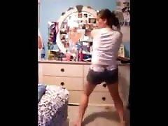 big boob strip dance
