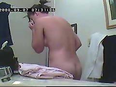 retro mergina prieš dušas-hidden cam įrašą