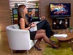 Long legs in avtar sex pantyhose on TV 10