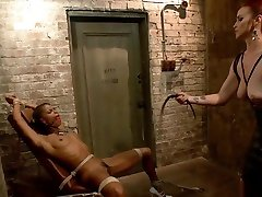 Hot iady boy xxx video whips ass to ebony slut