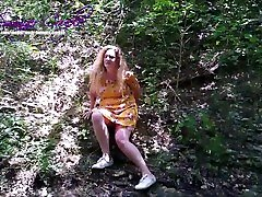 Public upskirt, dogging and creampie MILF wife in Texas State park!