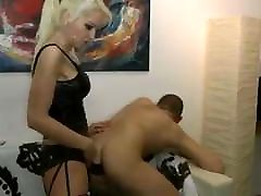 German Women, fucks guy with strapon.