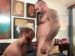 Horny beautiful moustache male