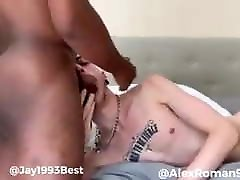 Twink bottom takes big dick