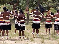 Busty African women topless dance 2