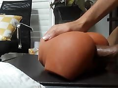 Forcing my big cock in my new couple with bdsm instruments toy