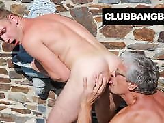 Grandpa cleans up Twink&039;s Sweaty Ass Hole