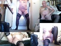 Ian Ford showing off my nylons