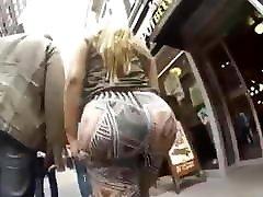 big ass in street make promet stop