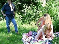 Amateur lesbians caught by pervert man