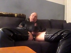 leather gloves wank