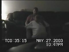 Babysittes Fucking on Spycam