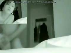 Asian aunty with kitchen hidden cameras