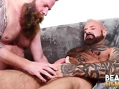 BEARFILMS norway samer Marc Angelo Barebacks Inked Cub After Rimjob